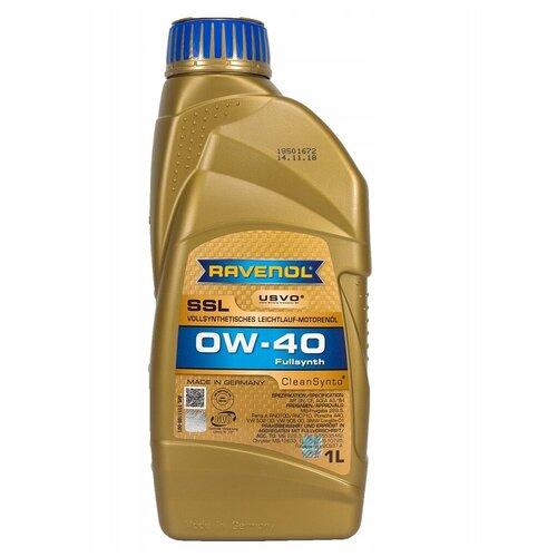 Синтетическое моторное масло Ravenol Super Synthetik Öl SSL SAE 0W-40 1 л моторное масло ravenol super synthetik öl ssl sae 0w 40 5 л