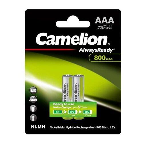 Фото - Аккумулятор Ni-Mh 800 мА·ч Camelion NH-AAA800AR, 2 шт. аккумулятор ni mh 1000 ма·ч camelion nh aaa1100 2 шт
