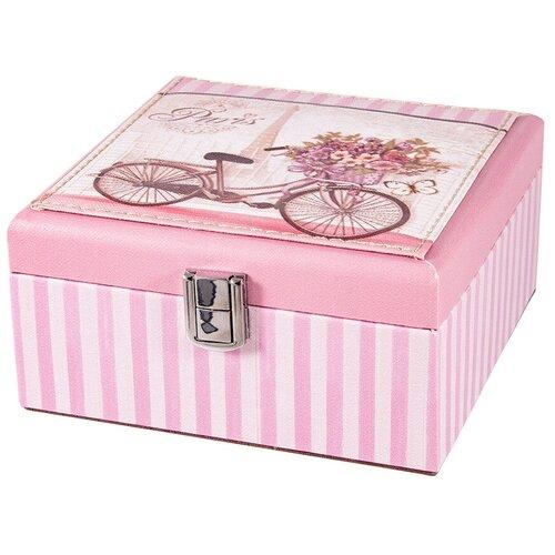 Русские подарки Шкатулка для ювелирных украшений 84336 розовый русские подарки шкатулка для ювелирных украшений 79212 белый