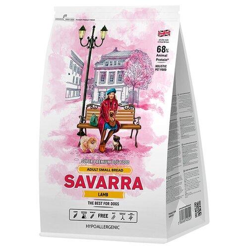 Фото - Сухой корм для собак SAVARRA гипоаллергенный, ягненок, с коричневым рисом 3 кг (для мелких пород) сухой корм для щенков savarra индейка с рисом 3 кг