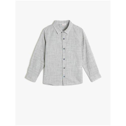 Рубашка KOTON размер 6-7 лет (116-122), хаки