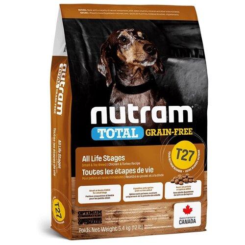 Фото - Сухой корм для собак Nutram беззерновой, утка, индейка, курица 5.4 кг (для мелких пород) сухой корм для щенков go carnivore беззерновой курица индейка утка 10 кг