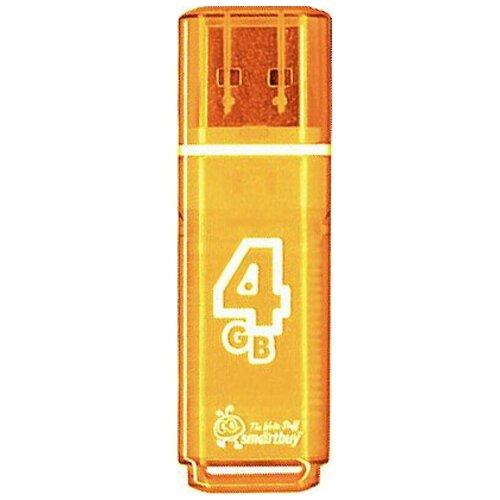 Фото - Флешка SmartBuy Glossy USB 2.0 4 GB, оранжевый флешка smartbuy glossy usb 2 0 32 gb изумрудный