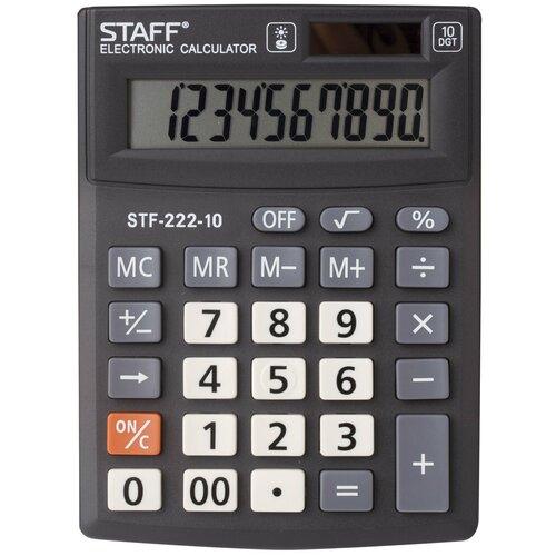 Калькулятор настольный STAFF STF-222-10 черный