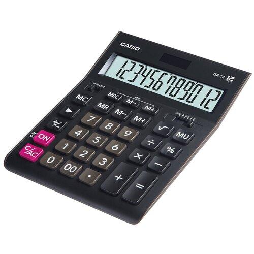 Калькулятор бухгалтерский CASIO GR-12 черный