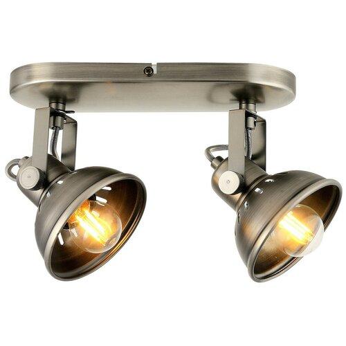 Настенно-потолочный светильник Lussole Broomfield GRLSP-9984, E27, 20 Вт, кол-во ламп: 2 шт., цвет арматуры: серый, цвет плафона: серый