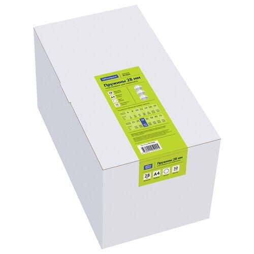 Фото - Пружина OfficeSpace пластиковые 28 мм белый 50 шт. пружина officespace пластиковые 6 мм красный 100 шт