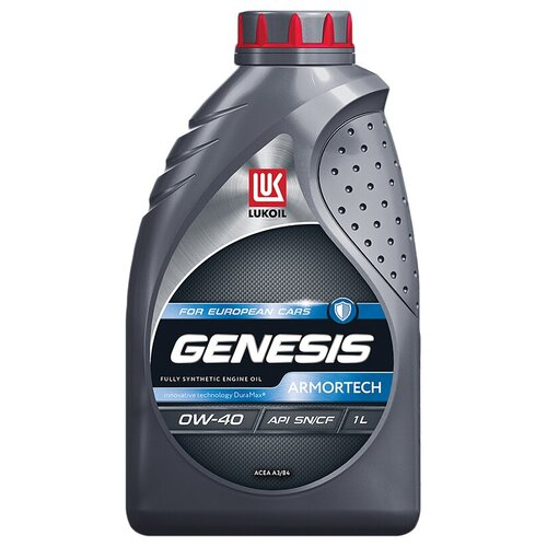 Синтетическое моторное масло ЛУКОЙЛ Genesis Armortech for European Cars 0W-40, 1 л