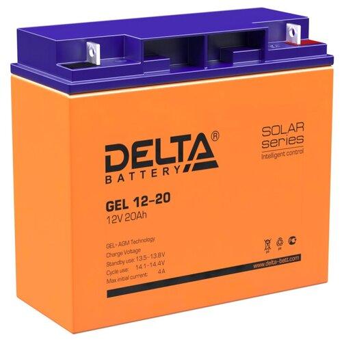Фото - Аккумуляторная батарея DELTA Battery GEL 12-20 20 А·ч аккумуляторная батарея delta battery gel 12 33 33 а·ч