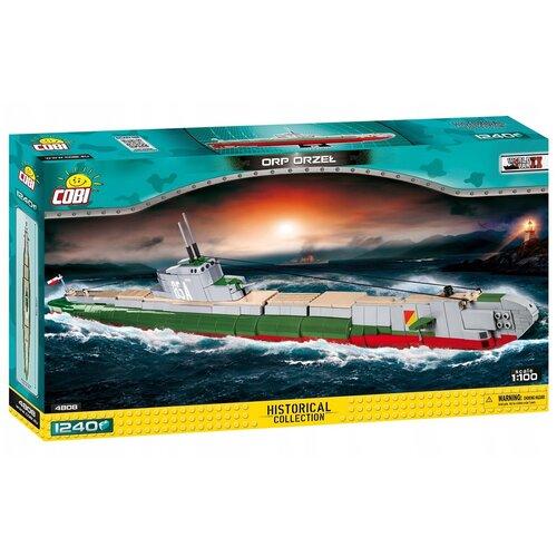 Фото - Конструктор Cobi Small Army World War II 4808 Польская подводная лодка ORP Orzel конструктор cobi small army world war ii 2188 амфибия vw typ 166 schwimmwagen
