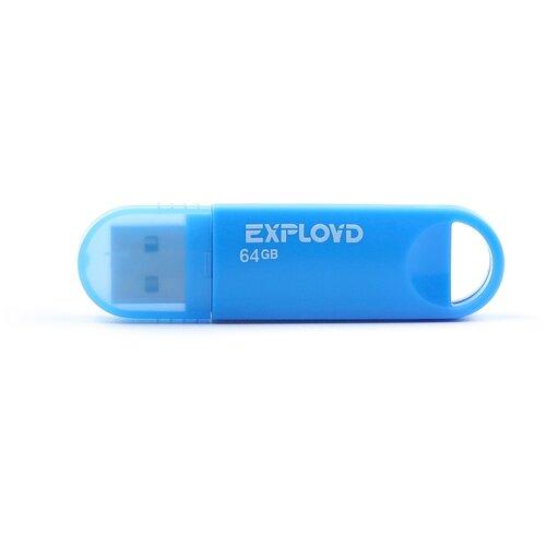 Фото - Флешка EXPLOYD 570 64 GB, blue флешка exployd 570 32gb blue