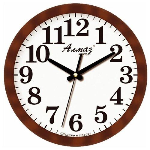 Фото - Часы настенные кварцевые Алмаз B22 коричневый/белый часы настенные кварцевые алмаз a87 коричневый белый