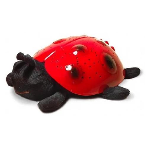 Мягкая игрушка Ночник-проектор звездного неба Божья коровка 11 см