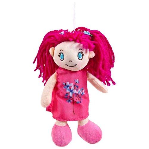 Фото - Мягкая игрушка ABtoys Кукла в малиновом платье 20 см мягкая игрушка abtoys кукла рыжая в голубом платье 20 см
