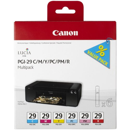 Фото - Набор картриджей Canon PGI-29 C/M/Y/PC/PM/R Multipack (4873B005) набор картриджей canon pg 40 cl 41 multipack 0615b043