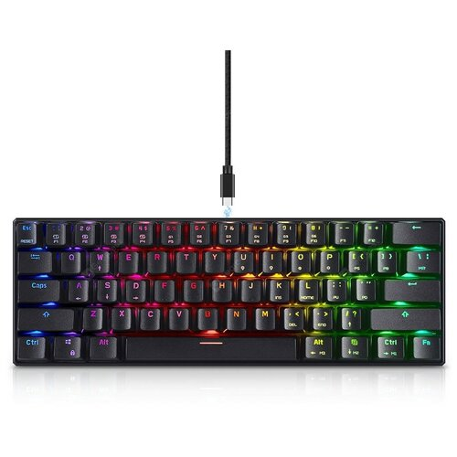 Игровая клавиатура Motospeed CK61 Black RGB Outemu Red Switch (русская раскладка)