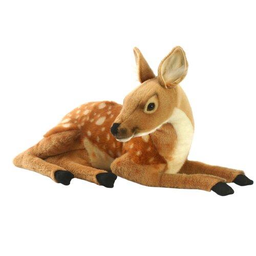 Мягкая игрушка Hansa Олененок лежащий 26 см hansa мягкая игрушка hansa экзотические животные коала с детенышем 28 см