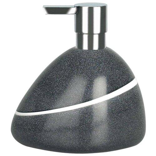 Фото - Дозатор для жидкого мыла Spirella Etna Stone, серый дозатор для жидкого мыла spirella sydney серый 7х18 5 см
