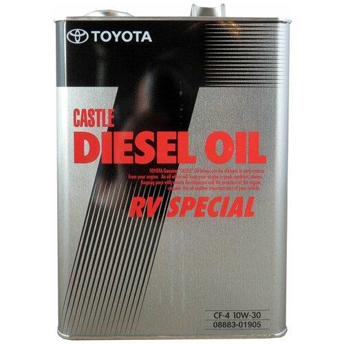 Минеральное моторное масло TOYOTA Castle Diesel Oil RV Special CF-4 10W-30 4 л