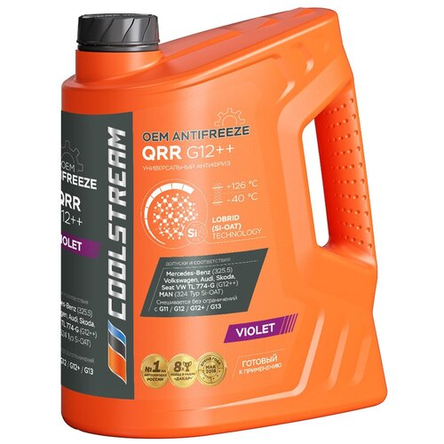 Антифриз Coolstream QRR 5 кг антифриз coolstream standard 40 зеленый 5 л