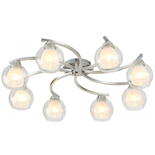Люстра Citilux Кристи CL152187, E27, 375 Вт, кол-во ламп: 8 шт., цвет арматуры: хром, цвет плафона: бесцветный