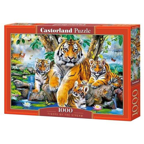 Купить Пазл Castorland Семья тигров у ручья (C-104413), 1000 дет., Пазлы