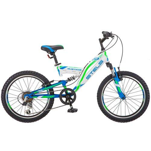 Подростковый горный (MTB) велосипед STELS Mustang V 20 V010 (2019) белый 13 (требует финальной сборки) велосипед stels 2612 v