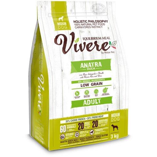 Фото - Сухой корм для собак Vivere утка 3 кг (для средних пород) сухой корм для собак vivere ягненок 3 кг для средних пород