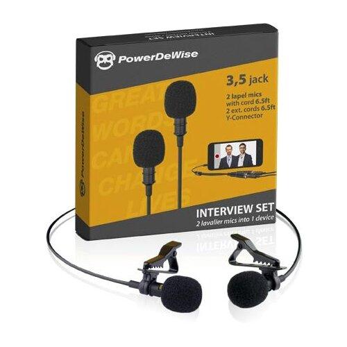 Комплект микрофонов PowerDeWise PDW-2, черный