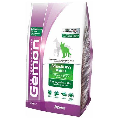 Фото - Сухой корм для собак Gemon ягненок 3 кг (для средних пород) сухой корм для собак vivere ягненок 3 кг для средних пород