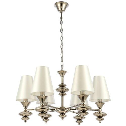 Люстра ST Luce Rionfo SL1137.103.06, E14, 240 Вт, кол-во ламп: 6 шт., цвет арматуры: никель, цвет плафона: белый недорого