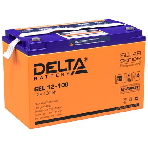 Фото - Аккумуляторная батарея DELTA Battery GEL 12-100 100 А·ч аккумуляторная батарея delta battery gel 12 33 33 а·ч