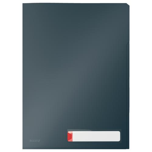 Папка-уголок с разделителями Leitz Cosy, 3 шт. в уп., серый папка уголок leitz с расширением на 20см 200 мк прозрачная цена за штуку 40563003