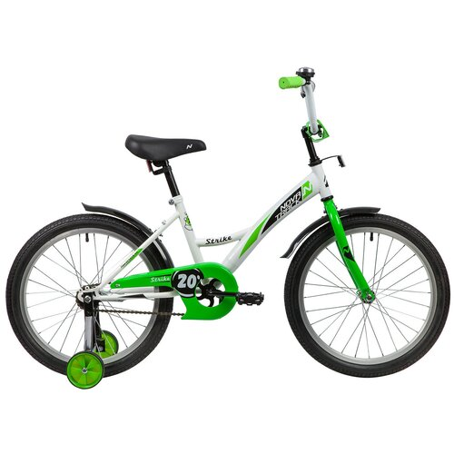 Фото - Детский велосипед Novatrack Strike 20 (2020) белый/зеленый (требует финальной сборки) детский велосипед novatrack twist 20 2020 зеленый требует финальной сборки