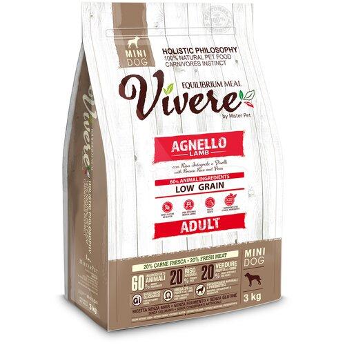 Фото - Сухой корм для собак Vivere ягненок 3 кг (для мелких пород) сухой корм для собак vivere ягненок 3 кг для средних пород