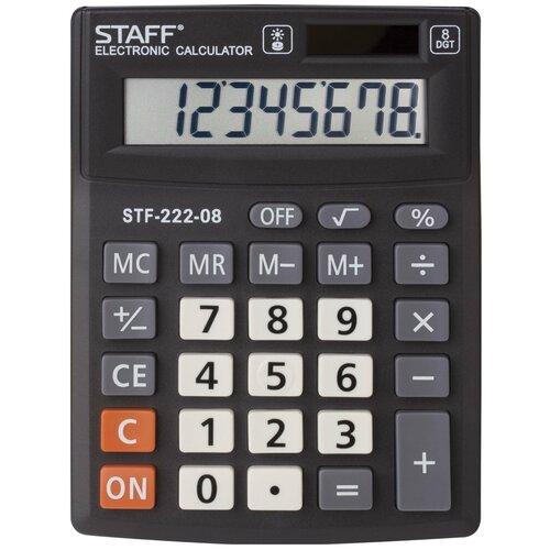 Калькулятор карманный STAFF STF-222-08 черный