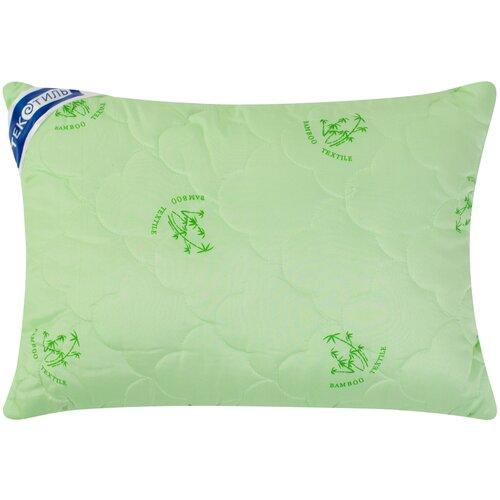 Подушка ТекСтиль Бамбук/полиэстер 50 х 70 см зеленый