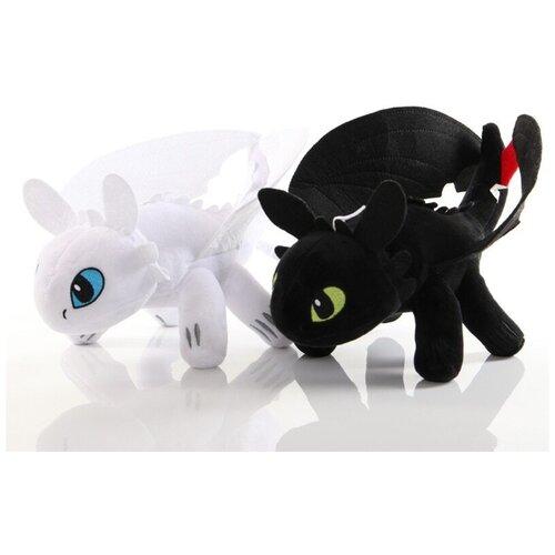 Набор из двух мягких плюшевых игрушек Беззубик и Дневная Фурия - Как приручить Дракона 50 см.