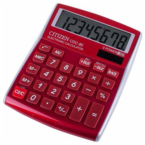 Калькулятор CITIZEN CDC-80 красный