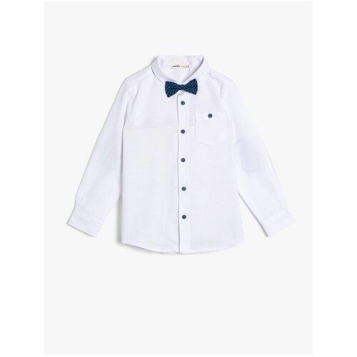 Рубашка KOTON размер 9-10 лет (134-140), белый