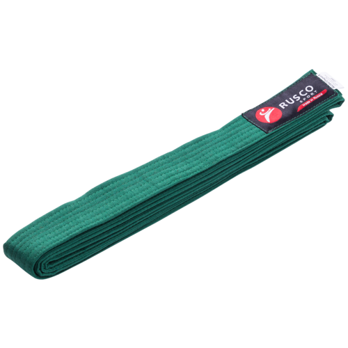 Пояс для единоборств, 280 см, зеленый