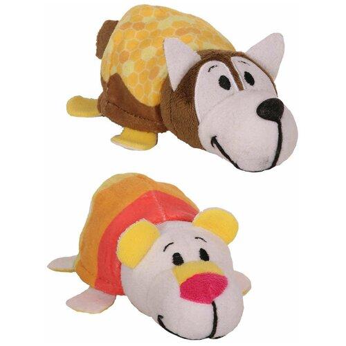 Мягкая игрушка 1 TOY Вывернушка Ням-Ням Хаски-Полярный мишка с ароматом 12 см