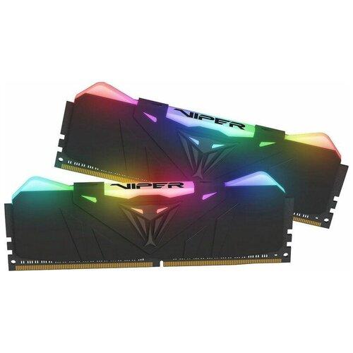 Фото - Оперативная память Patriot Memory VIPER RGB 16GB (8GBx2) DDR4 3600MHz DIMM 288-pin CL18 PVR416G360C8K оперативная память patriot memory viper rgb 16gb 8gbx2 ddr4 4133mhz dimm 288 pin cl19 pvr416g413c9k