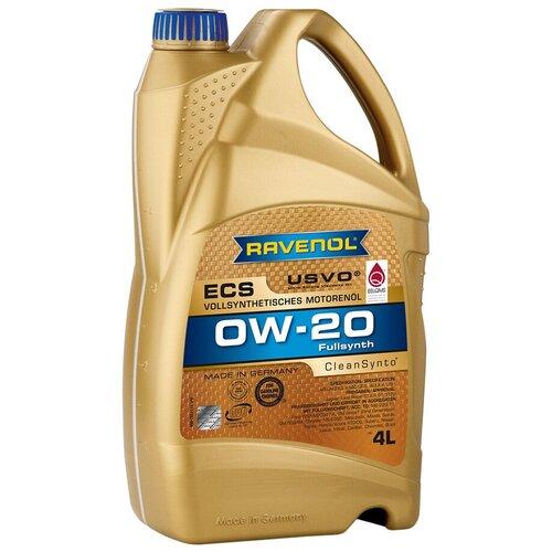 Синтетическое моторное масло Ravenol Eco Synth ECS SAE 0W-20, 4 л моторное масло ravenol super synthetic hydrocrack ssh sae 0w 30 4 л