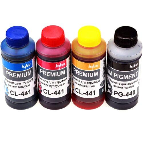 Фото - Чернила INKO PG-440/CL-441 для Canon PIXMA MG2140, MG2240, MG3140, MG3240, MG3540, MG3640, MG3640S, MG4140, MG4240, TS5140, MX374, MX376, MX394, MX434, MX454, MX474, MX514, MX524, MX534) комплект 4 цвета по 100g картридж t2 ic cpg440xl для canon pixma mg2140 pixma mg2240 pixma mg3140 pixma mg3240 pixma mg3540 pixma mg4140 pixma mg4240 pixma mx374 pixma mx394 pixma mx434 pixma mx454 pixma mx474 pixma mx514 pixma mx524 pixma mx534 600 черный ic cpg