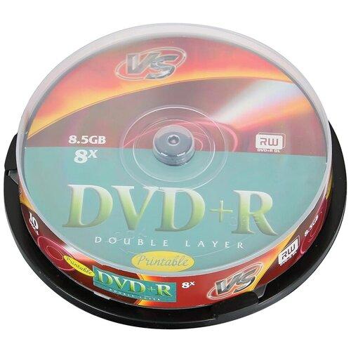 Фото - Диск DVD+R VS 8.5 Gb 8x 10 шт. cake box накладной светильник silverlight louvre 842 39 7