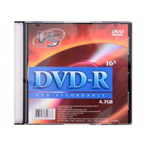Диск DVD-R VS 4.7 GB 16x 5 шт. slim case
