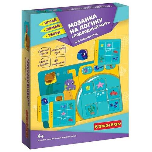 Купить Настольная игра Bondibon Мозаика на логику, Подводный мир, 4+ (ВВ4765), Настольные игры