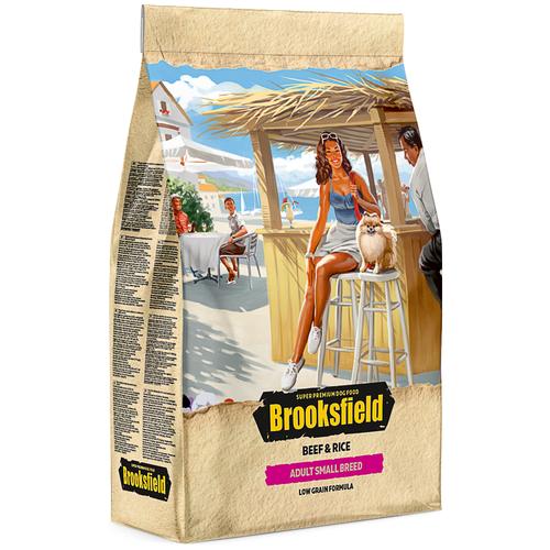 Сухой корм для собак BROOKSFIELD говядина, с рисом 3 кг (для мелких пород) сухой корм для собак brooksfield курица с рисом 3 кг для крупных пород