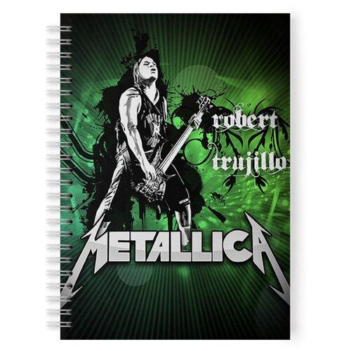 Купить Тетрадь 48 листов в клетку с рисунком Metallica Robert Trujillo, Drabs, Тетради